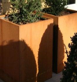 Cortenstaal Plantenbak Vierkant Hoog