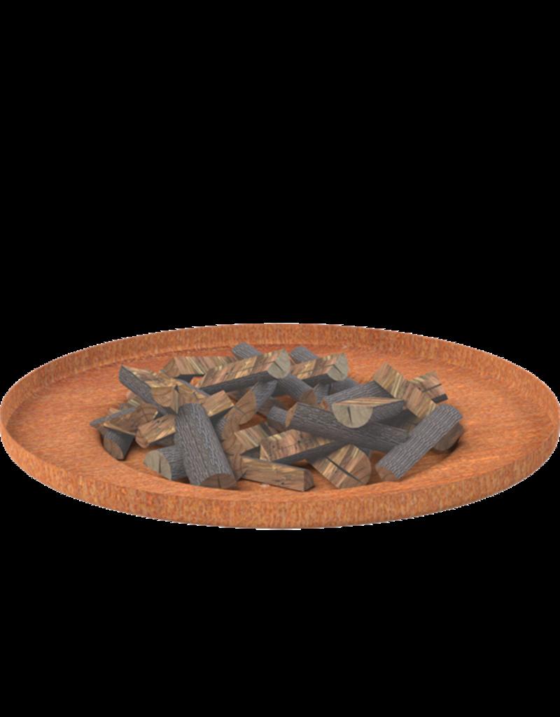 Cortenstaal Vuurschaal verdiepte bodem