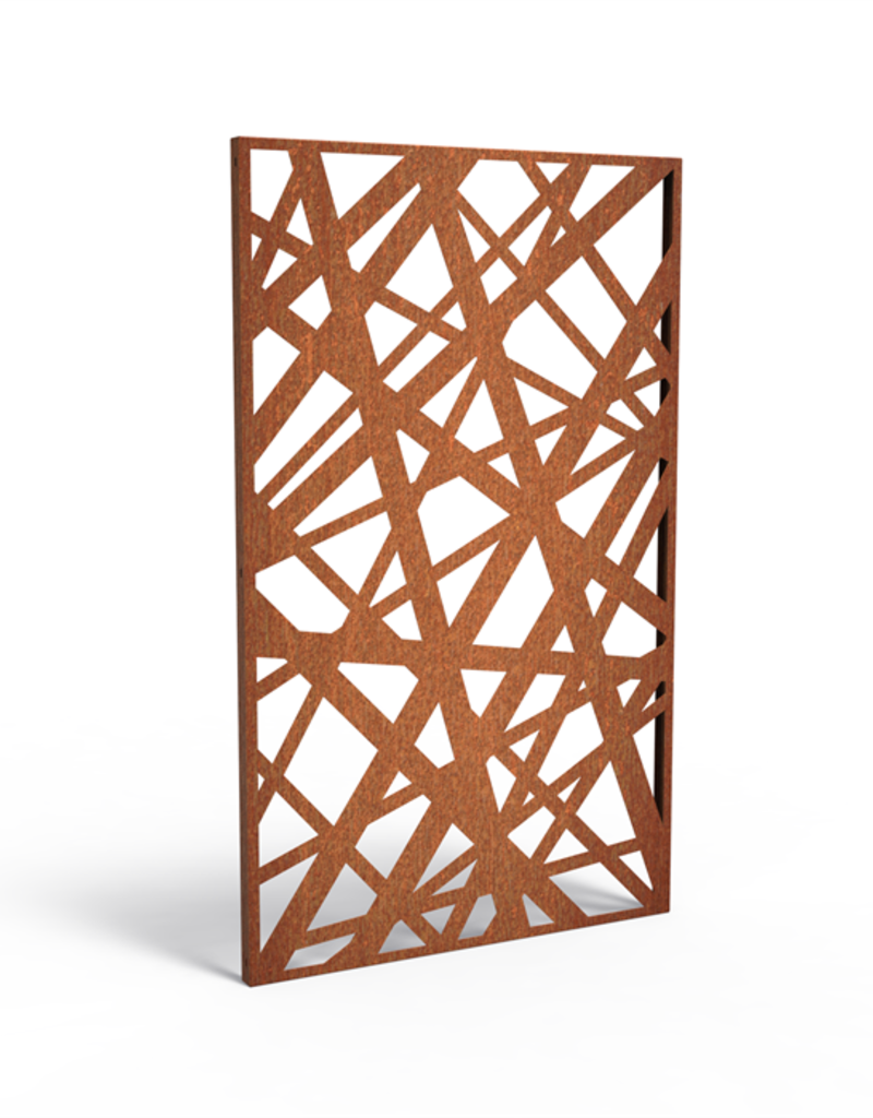 Cortenstaal Tuinscherm/Sfeerpaneel Abstract / Grafisch