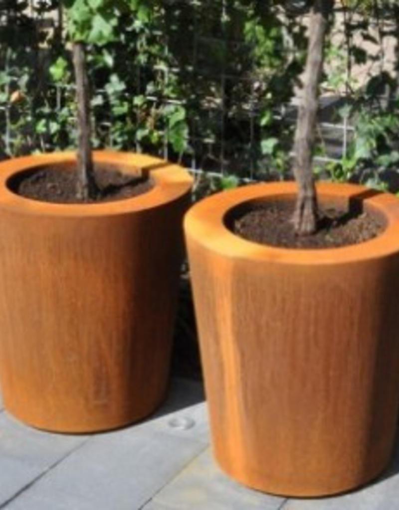 Cortenstaal Plantenbak Conisch