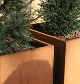 Cortenstaal Plantenbak Vierkant met Poten