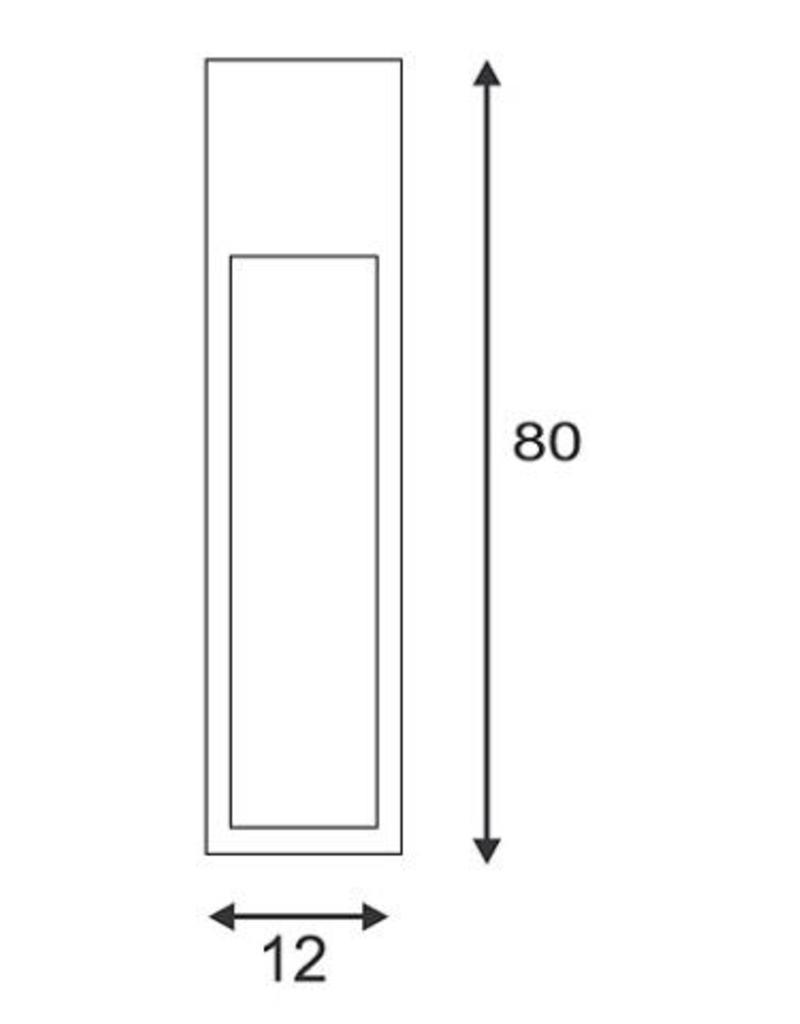 SLV RUSTY SLOT 80 LED Cortenstaal 1xLED 3000K