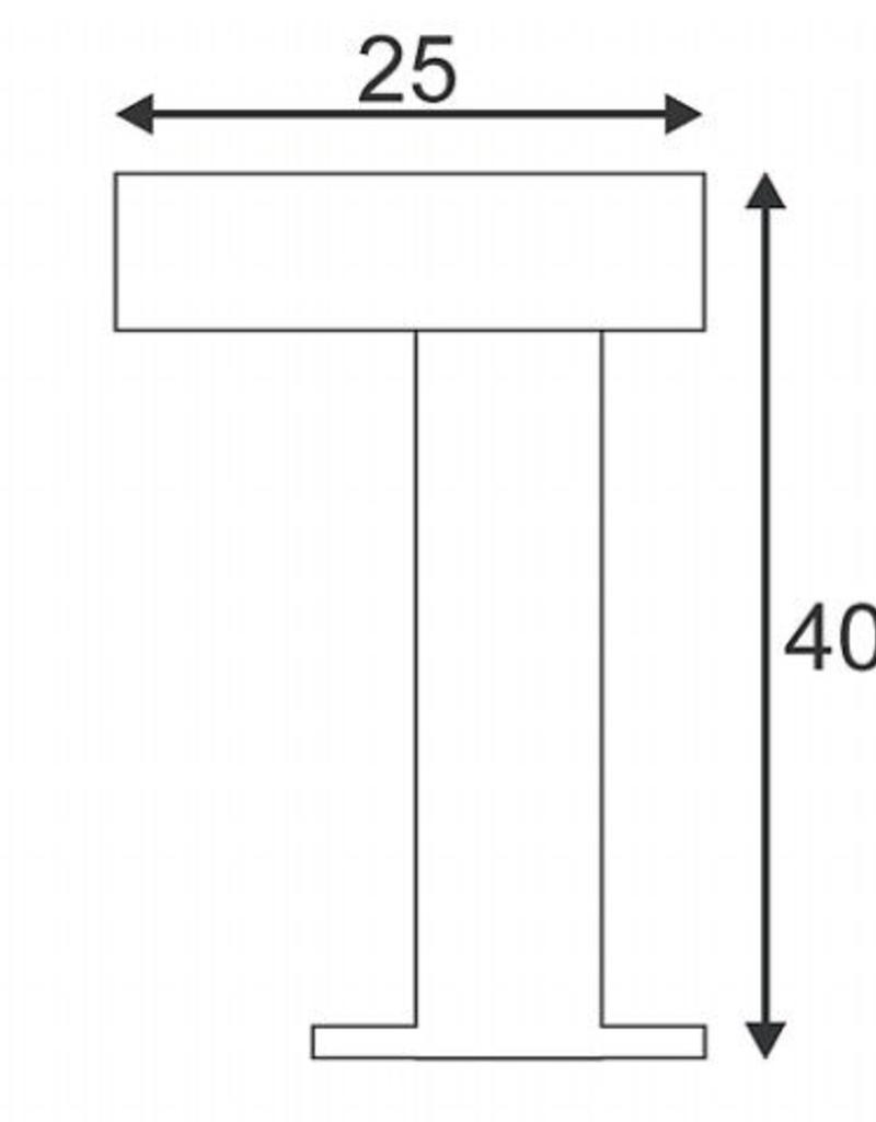 SLV RUSTY PATHLIGHT Cortenstaal 1xGX53