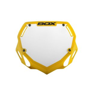 Box BOX Phase 1 BMX Number Plate Flo Yellow Large