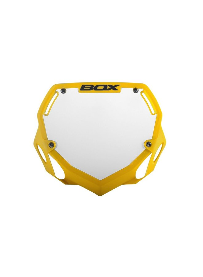 BOX Phase 1 BMX Number Plate Flo Yellow Large