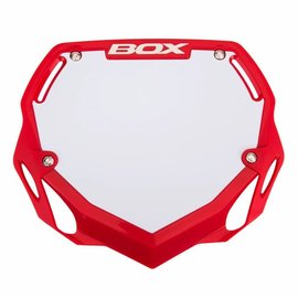 Box BOX Phase 1 BMX Number Plate Red Large