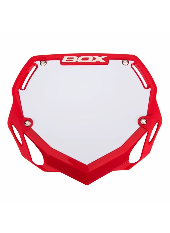 BOX Phase 1 BMX Number Plate Red Large