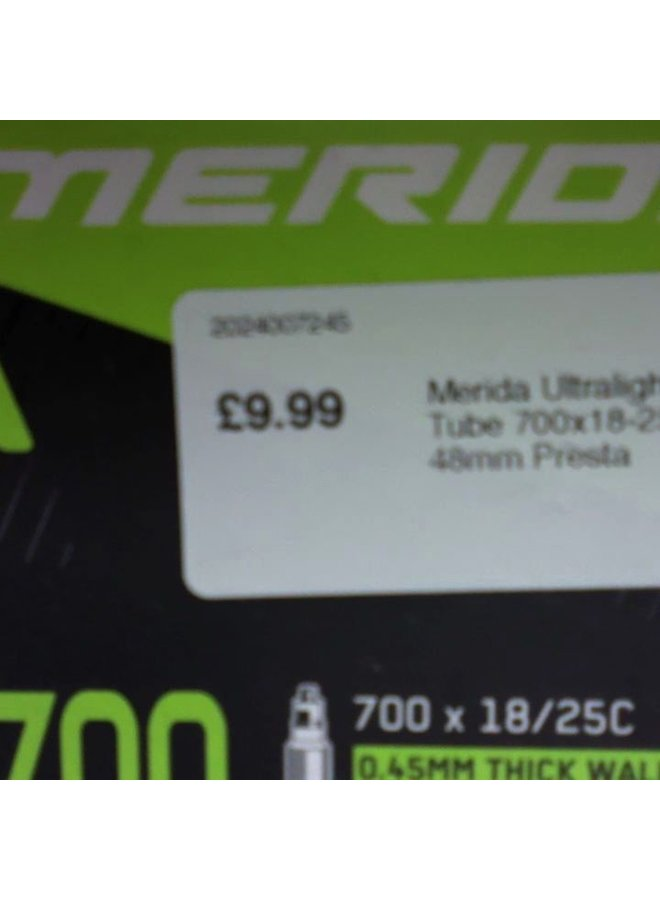 Merida Ultralight Inner Tube 700x18-25C 48mm Presta