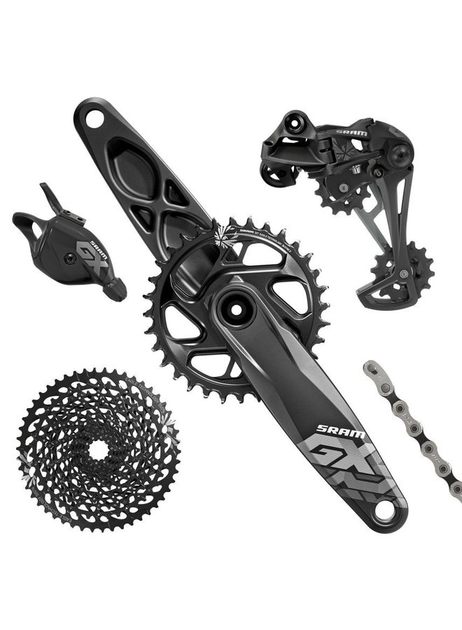 SRAM GX Eagle Groupset (Rear Derailleur, Trigger Shifter With Clamp, Crankset GXP 12s With Direct Mount 32t X-Sync Chainring, Chain 126 links 12s, Cassette XG-1275 10-50t, Chaingap Gage