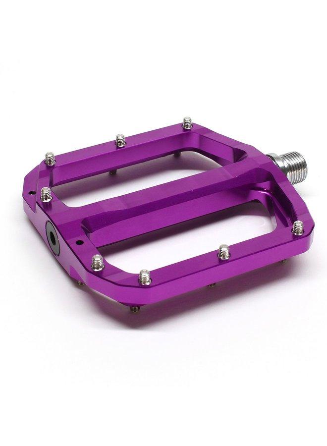 Burgtec Penthouse MK4 Flat Pedals Steel Axle - Purple