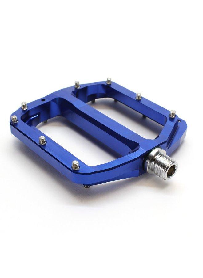 Burgtec Penthouse MK4 Flat Pedals Steel Axle - Blue