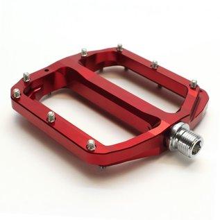 Burgtec Burgtec Penthouse MK4 Flat Pedals Steel Axle - Red