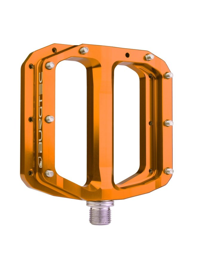 Burgtec Penthouse MK4 Flat Pedals Steel Axle - Orange