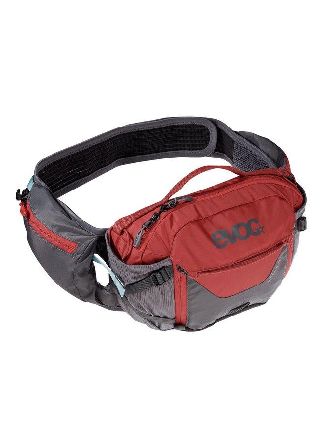 Evoc Hip Pack Pro 1.5L Hydration Pack 3L Carbon Grey/Chilli Red