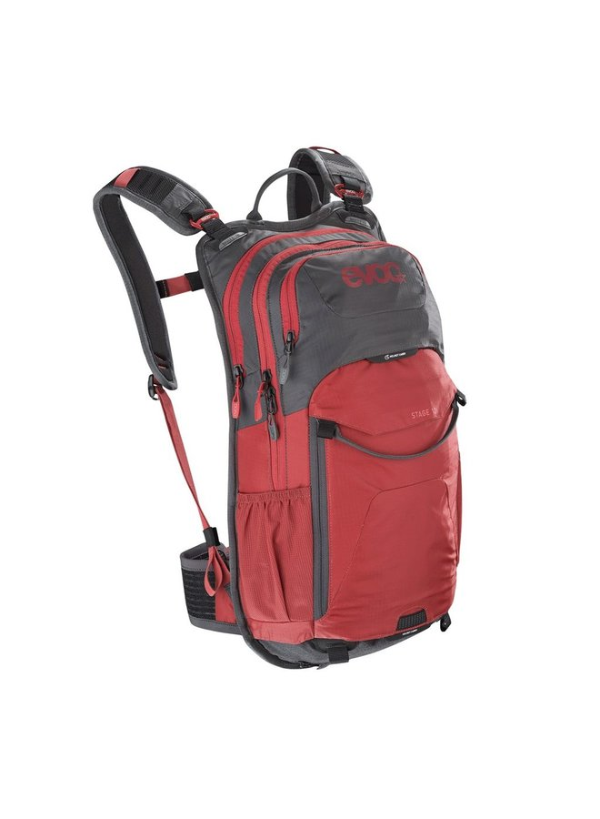 Evoc Stage 12L Performance Back Pack Carbon Grey/Chilli Red