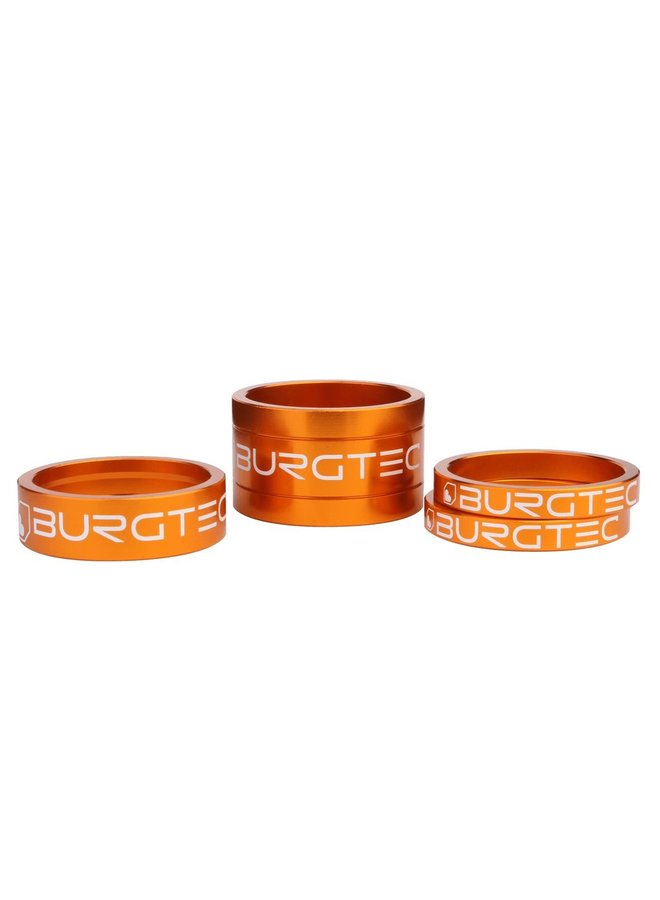 Burgtec Stem Spacer Kit 5mm,10mm and 20mm Spacers