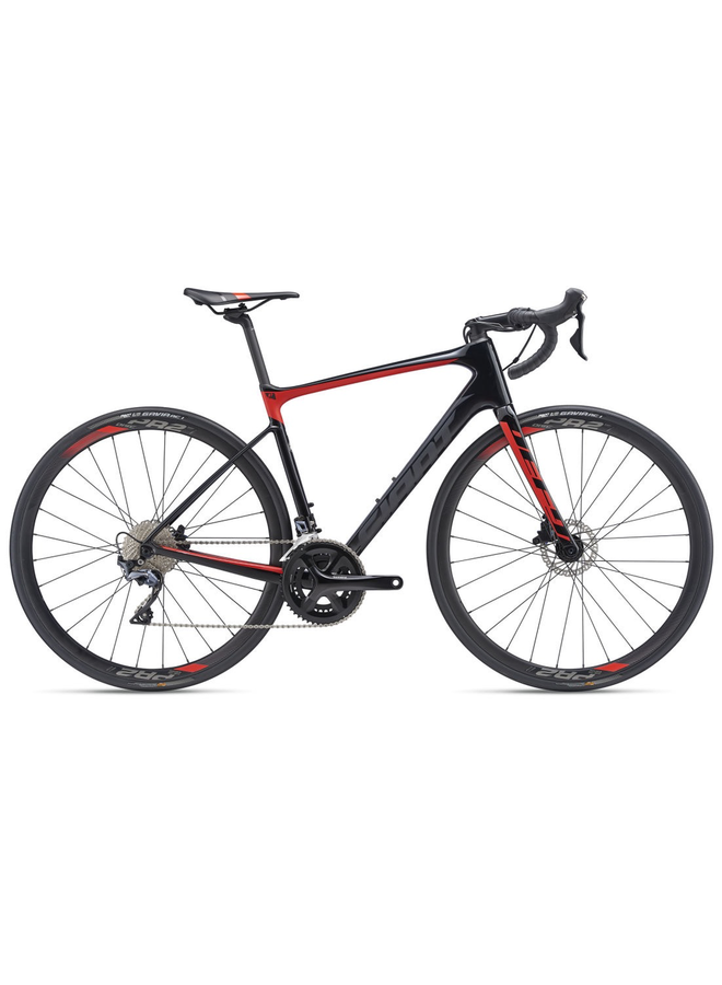 Giant 2019 Defy Advanced 1 Large Carbon/Red