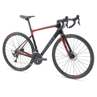 Giant Giant 2019 Defy Advanced 1 Large Carbon/Red
