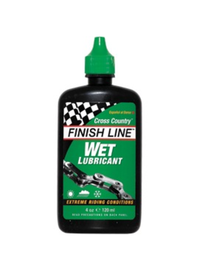 Finish Line Cross Country Wet Chain Lube 4oz/120 ml