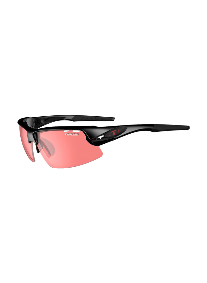 TIFOSI CRIT ENLIVEN BIKE RED LENS  BLACK FRAME SUNGLASSES