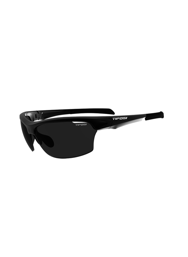 TIFOSI INTENSE SINGLE LENS SUNGLASSES: GLOSS BLACK/SMOKE