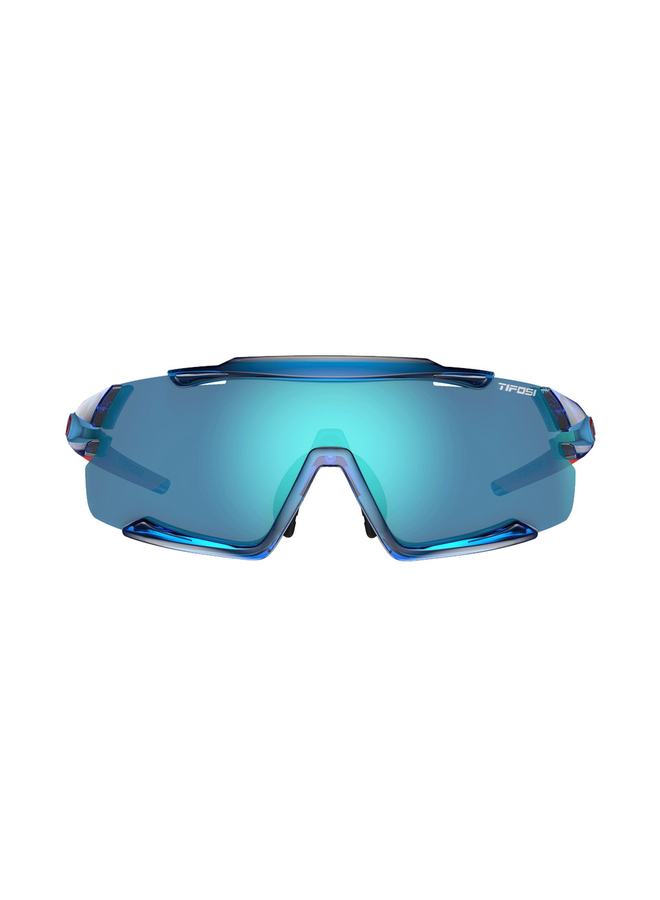 TIFOSI AETHON INTERCHANGEABLE CLARION LENS SUNGLASSES 2019: CRYSTAL BLUE/CLARION BLUE
