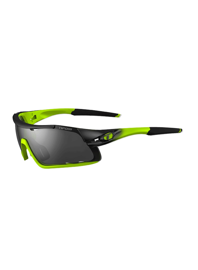TIFOSI DAVOS INTERCHANGEABLE LENS SUNGLASSES: RACE NEON YELLOW