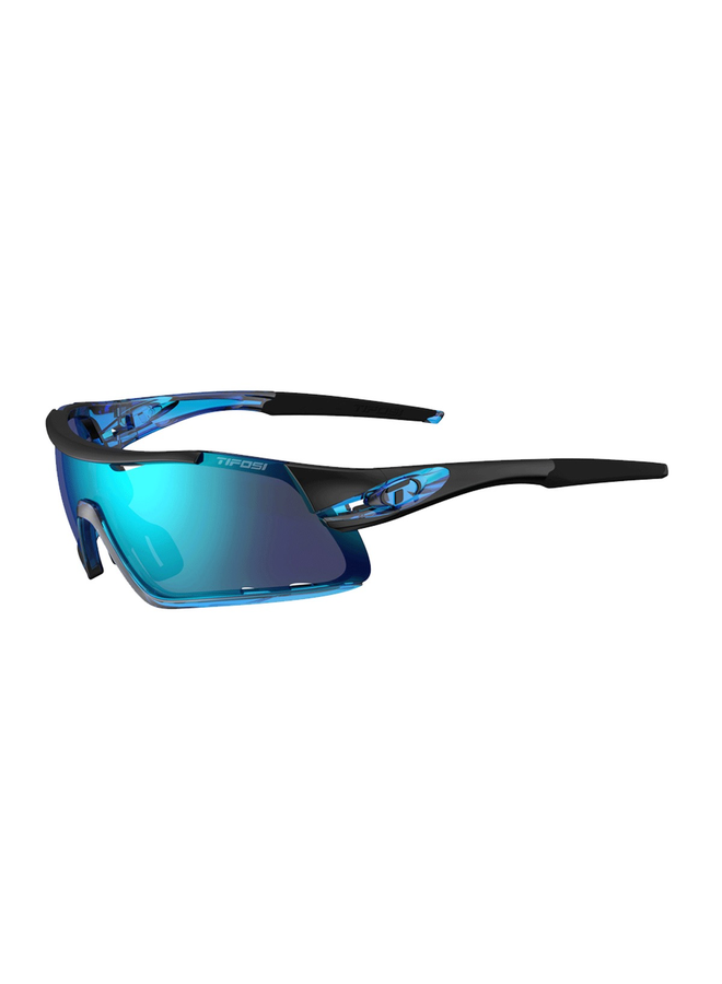 TIFOSI DAVOS INTERCHANGEABLE CLARION BLUE LENS SUNGLASSES: CRYSTAL BLUE/CLARION BLUE