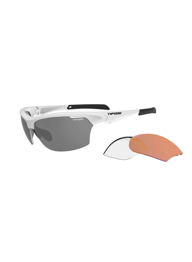 TIFOSI INTENSE INTERCHANGABLE LENS SUNGLASSES: MATT WHITE