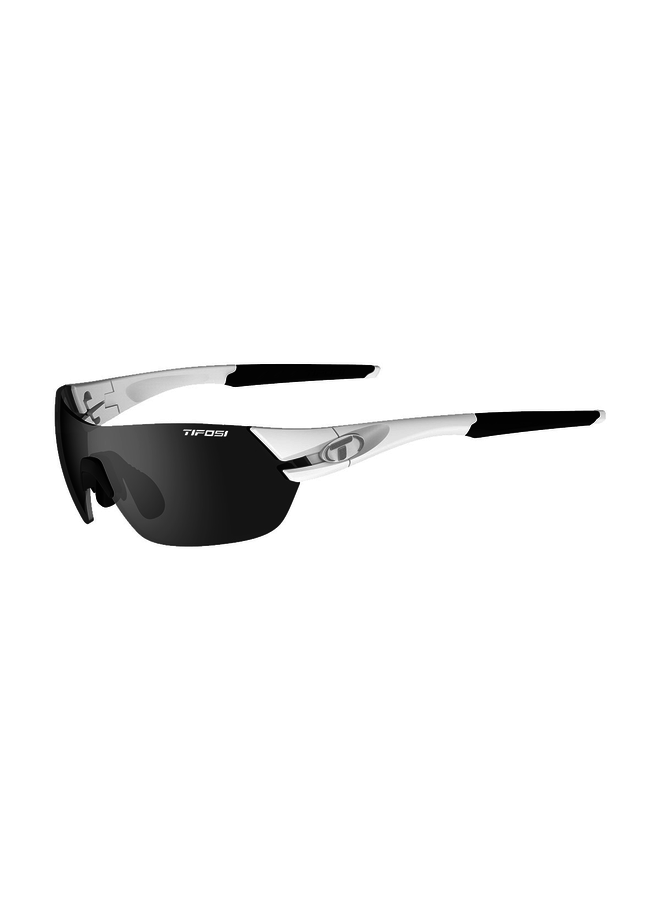 TIFOSI SLICE INTERCHANGEABLE LENS SUNGLASSES: MATTE WHITE