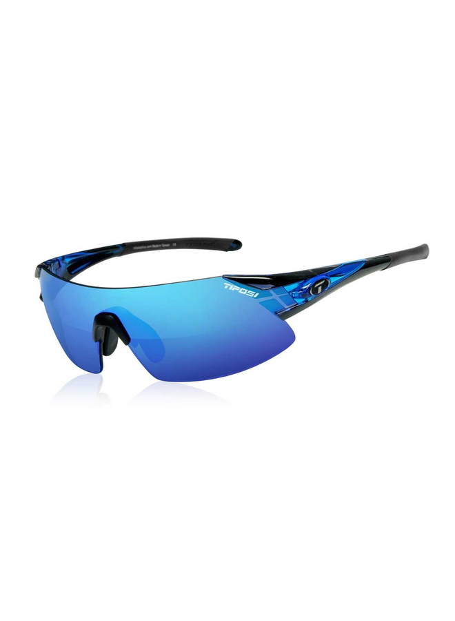 TIFOSI PODIUM XC CRYSTAL BLUE CLARION BLUE LENS SUNGLASSES: BLUE