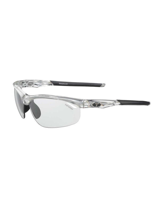 TIFOSI VELOCE CLEAR FOTOTEC LIGHT NIGHT LENS SUNGLASSES: CLEAR