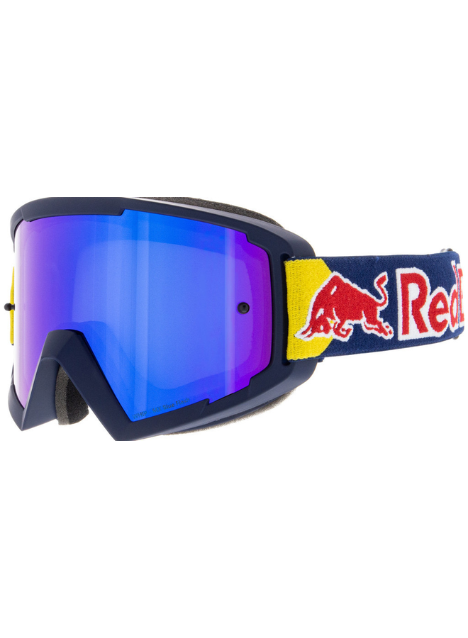 Red Bull Spect MX Goggle Blue Flash Mirror Lens