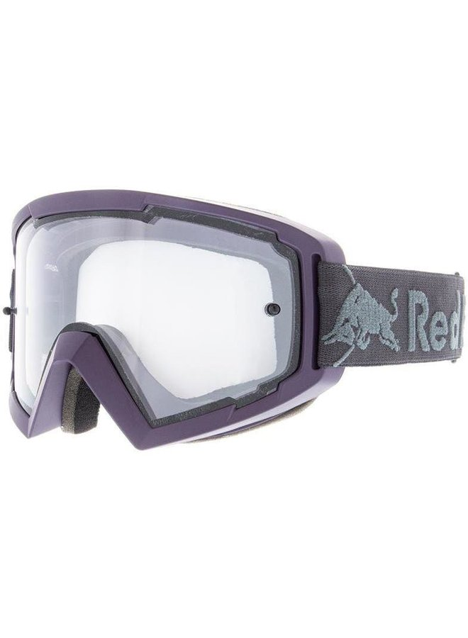 Red Bull Spect MX Goggle Purple Clear Flash