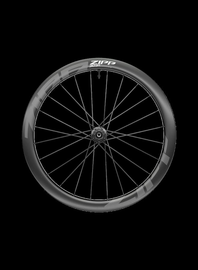 ZIPP 303 S Carbon Tubeless Disc Brake Center Locking 700c Front Wheel 24 Spokes 12 x 100 Standard Graphic