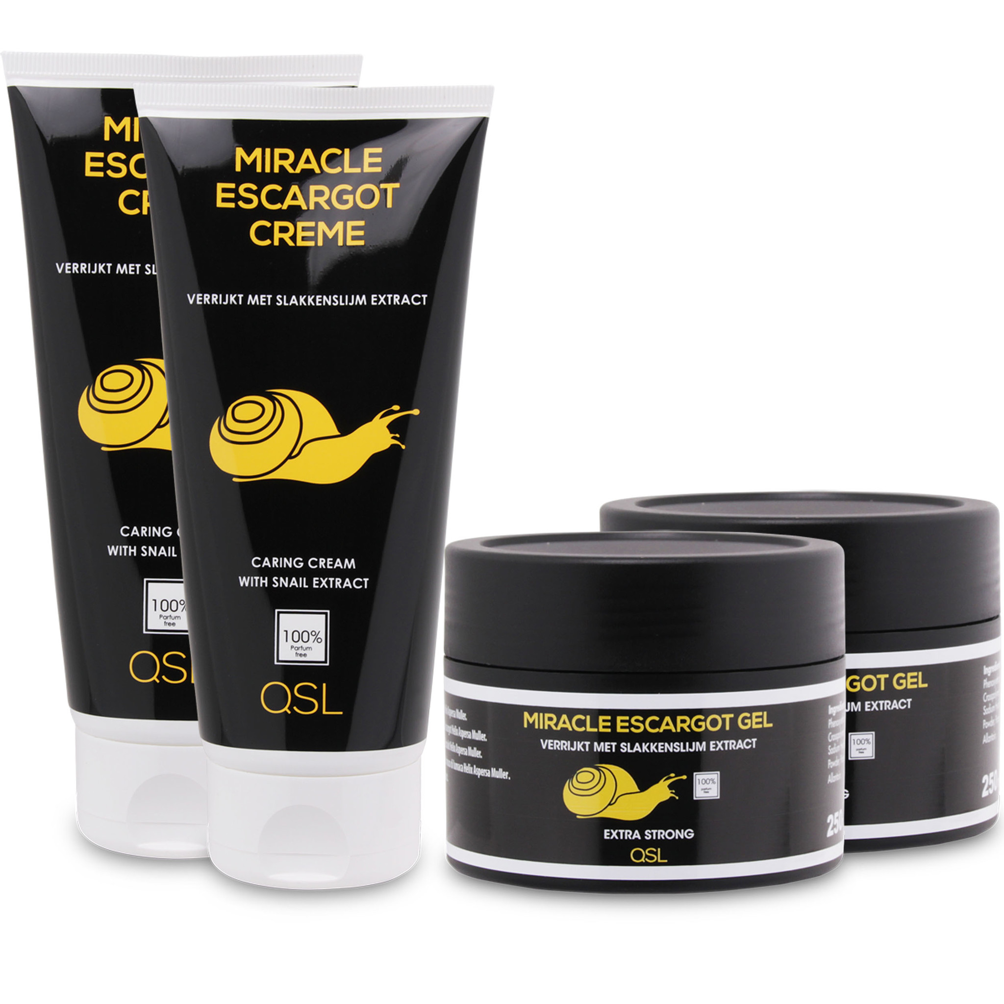 Miracle Escargot Offre combinée | 2x Miracle Escargot Creme 200ml + 2x Miracle Escargot Gel 250ml