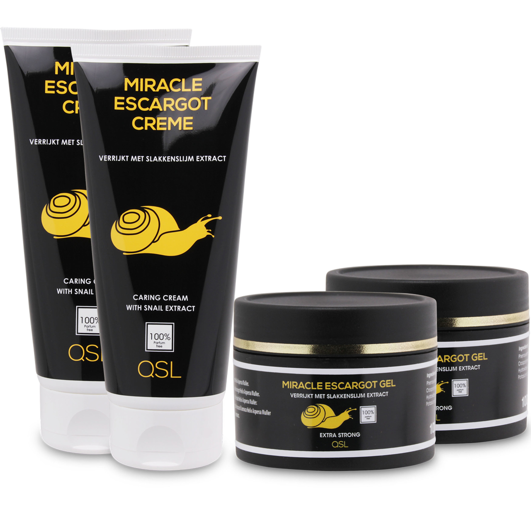 Miracle Escargot Offre combinée   2x Miracle Escargot Creme 200ml + 2x Miracle Escargot Gel 100ml