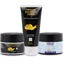Miracle Escargot Offre combinée | 1x Miracle Escargot Creme 200ml + 1x Miracle Escargot Gel 250ml + 1x Miracle KP8 Gel 250ml