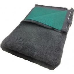 Vet bed Engelse kwaliteit Vetbed Prof antraciet grijs 35 mm groene rug