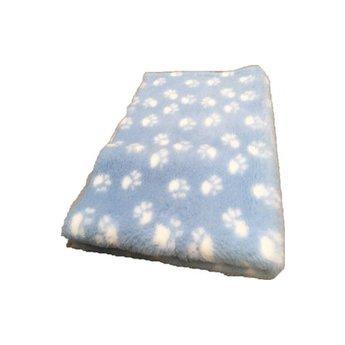 BoeZLife Vetbed lichtblauw met pootafdruk antislip , slaapkleed