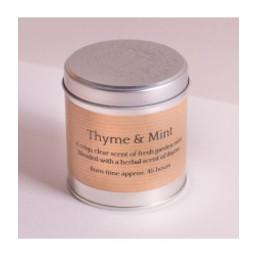 St Eval Natuurlijke Thyme & Minth Geurkaars in Blikje 45 branduren
