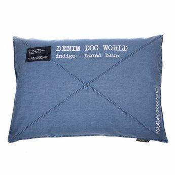 Lex & Max Denim blauw of zwart 100 x 70 cm