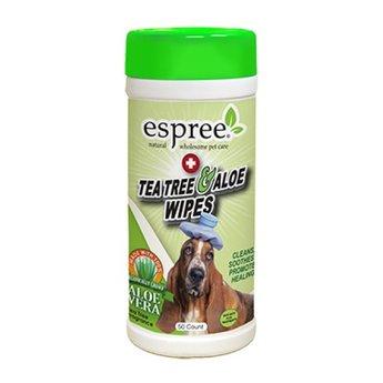 ESPREE Tea Tree & Aloë Wipes, voor rode of droge huid