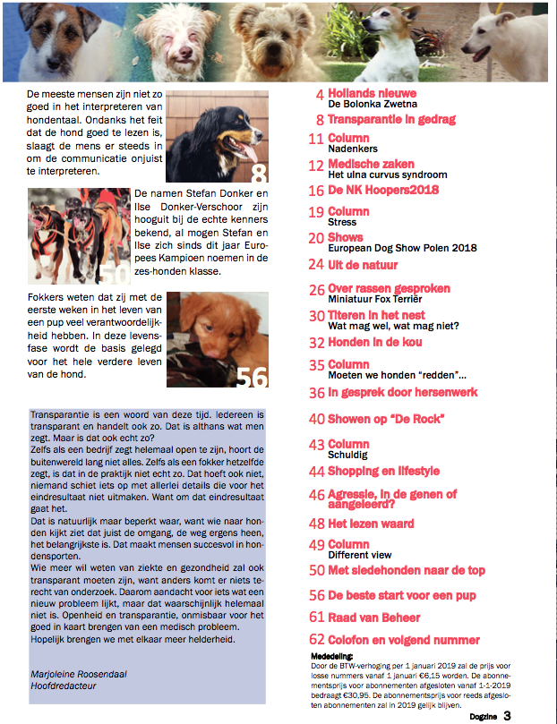 Dogzine november / december 2018 Preview