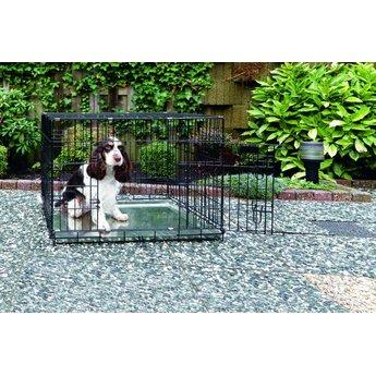 Beeztees Beeztees Honden Bench twee deurs zwart