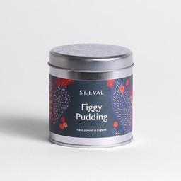 St Eval Christmas Figgy Pudding  Geurkaars in Blikje 45 branduren
