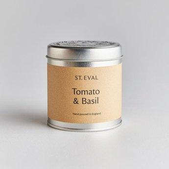 St Eval St Eval Tomato & Basil Natuurlijke Geurkaars in Blikje 45 branduren