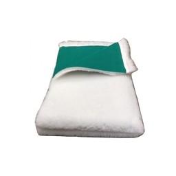 BoeZLife Vetbed Wit, groene rug 28 mm