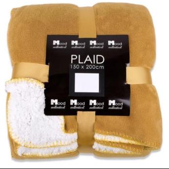 In The Mood Collection  Fleece Plaid  /Deken Akropolis Honinggeel