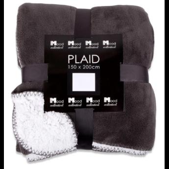In The Mood Collection Fleece plaid  /deken Akropolis taupe grijs
